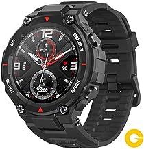 Amazfit T-Rex Reloj Smartwatch Deportivo - 20 Días Batería, 12 Certificados Militares, 50m Agua, 14 Modos Deportivos, Doble Satélite, Pantalla AMOLED (Antihuellas), Bio-Tracker PPG, V.Global (Negro)