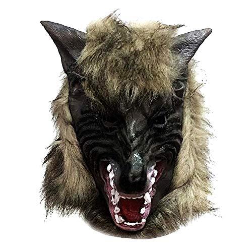 Legisdream Máscara del Hombre Lobo de látex de Accesorios vestidor Idea