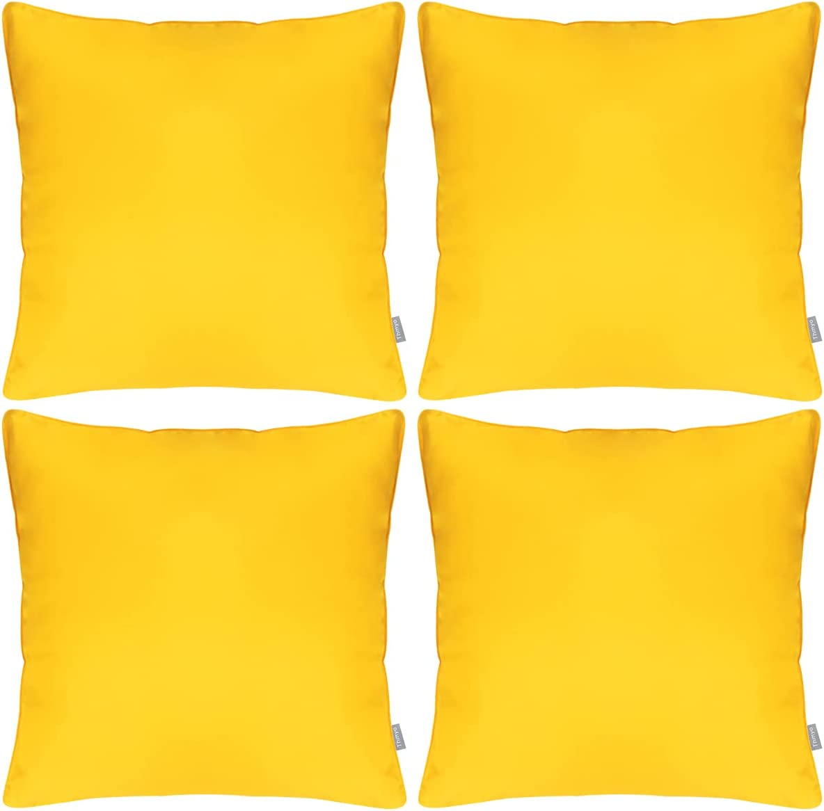 Set of 4 Outdoor Popular product Pillow Decorative Waterproof OFFicial site Covers Thr Square