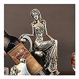 HJXSXHZ366 Estantería de Vino Estante del Vino del Estante del Vino, Belleza, Artes de la Resina de Estilo Europeo decoración del hogar Ornamentos/Regalo Ideas Estante de Vino pequeño