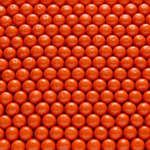 """Shimmer Orange 1/2 Inch Gumballs - Orange Flavored - Includes """"How To Build a Candy Buffet Table"""" Guide"""