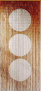 Master Garden Products Harmony Dot Beaded Bamboo Curtain, 36