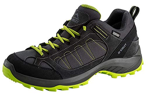McKINLEY Outdoor-Chaussures Travel Comfort AQX M, Walking Shoe Homme, Grey Dark/Green Lime, 40 EU