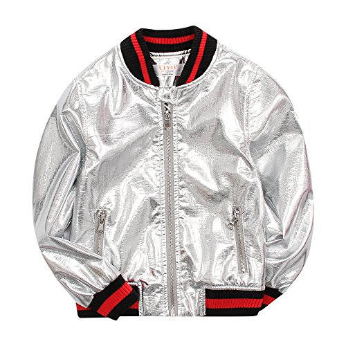 LJYH Children Spring New Pu Leather Jacket Baby Children's Clothing Silver