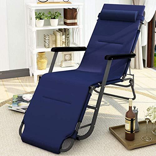 ADHW Reclinable, sillas reclinables Exterior, Fundas de Cojines sillón reclinable, Mecedora portátil, sillón Individual Acolchado, con la Almohadilla, Tumbona