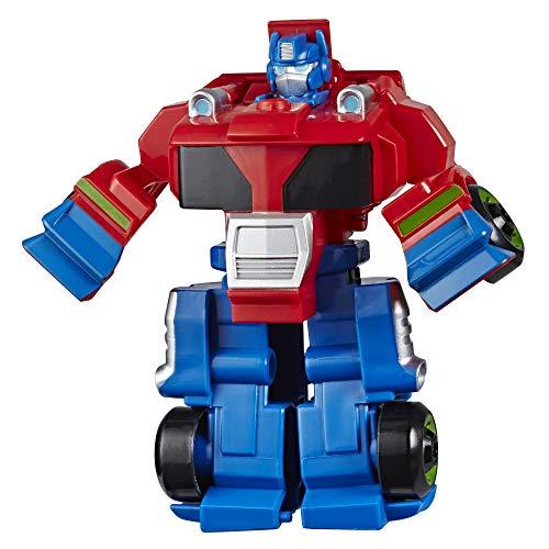 Transformers Playskool Heroes Rescue Bots Academy Optimus Prime verwandelbares Spielzeug, 11 cm große Figur, für Kinder ab 3 Jahren