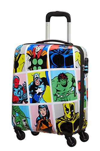 American Tourister Marvel Legends Spinner S, Bagaglio a mano, 55 cm, 36 L, Multicolore (Marvel Pop Art)