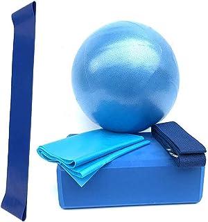 VAlinks Yoga Equipment Set, Yoga Starter Kit for Beginners, 5 Pcs Yoga Accessories Kits Include Yoga Ball Yoga Blocks Stre...