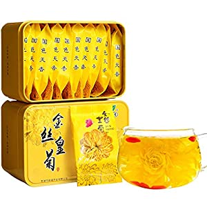 Golden silk chrysanthemum 4g Huangshan Chrysanthemum Herbal tea One flower One cup Chrysanthemum Tea 金丝皇菊 4g 黄山贡菊 花草茶 一朵一杯 菊花茶