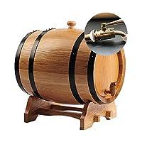 木製ワイン樽、3 L / 5 L / 10 Lオーク樽、ワイン貯蔵およびリキュール用 (Color : Log color, Size : 10L)