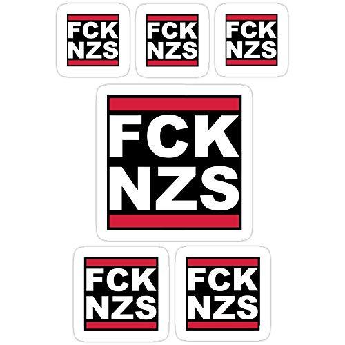 Vinyl Sticker For Cars, Trucks, Water Bottle, Fridge, Laptops Fck Nzs Sickerbomb (6x Stickers) Stickers (3 Pcs/Pack) 96689333985