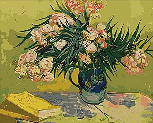 ANNB Digitales Malen der Hauptdekoration des Wohnzimmers mit Oleander der digitalen Malerei 40x50cm