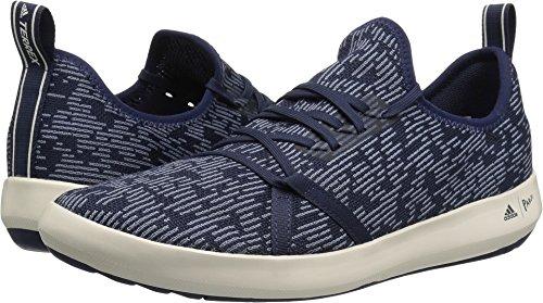adidas Men's Terrex Climacool Boat Parley Shoe - Trace Blue/Raw Grey/Chalk White, 9.0