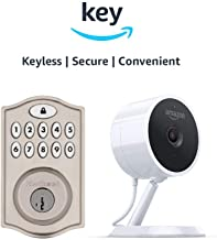 Kwikset SmartCode 914 Keypad Smart Lock + Amazon Cloud Cam   Key Smart Lock Kit (Nickel)