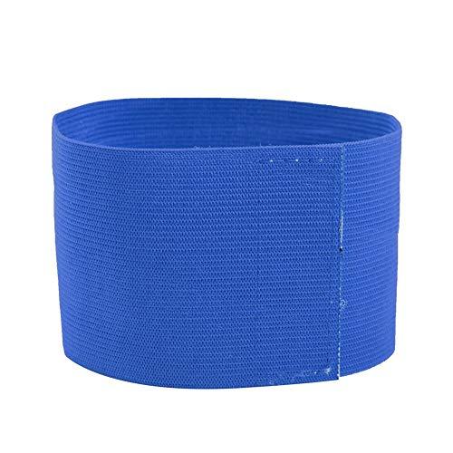 VGEBY1 Brazalete Deportivo para el Equipo, Brazalete de fútbol Ajustable Bandas para el Jugador del Brazalete del capitán(Azul)