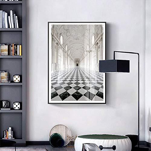 BailongXiao Europäische Palastplakate und Leinwanddrucke Kunsthauptdekoration auf Wohnzimmer Wohnzimmerwand,Rahmenlose Malerei,50x75cm