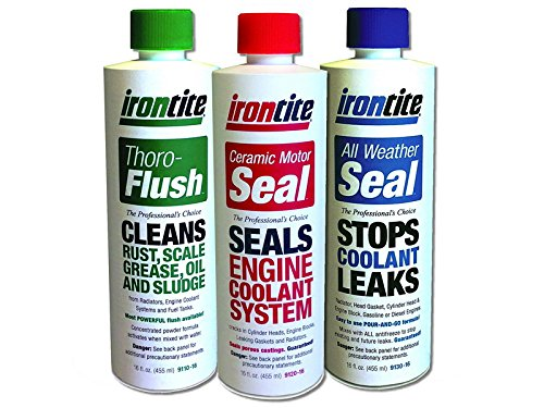 The 3 Pack of Irontite Additives - Thoro-Flush, All Weather Seal and Ceramic Motor Seal. 468-9190-16
