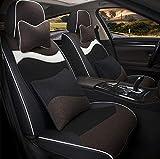 Cubierta de asiento de automóvil conjunto completo, almohadilla de asiento de vellón corto de invierno Cubierta de 4 piezas Set Universal Car Asiento de asiento Cojín,E