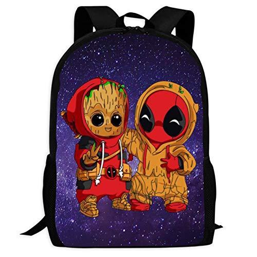 Cute Am I G-Root Rucksäcke Laptoptasche 3D-Druck Kinder Schule Casual Schulter Büchertaschen Daybag für Jungen Mädchen