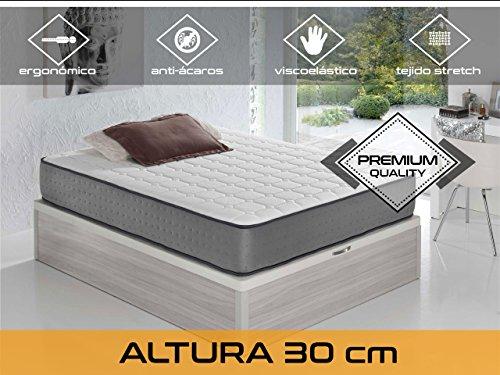 Relaxing-Confort Elax 305.0Matratze Visco elastisch, algodón-poliuretano, weiß, Doppelbett, 200x 140x 30cm