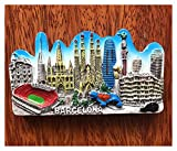 MINGQIMY imanes refrigerador Resina 3D Refrigerador Pegatinas Turismo Mundo Roma España Barcelona Paisaje Frigorífico Imauvenir Imanes Decorativos Decoración (Color : 5)