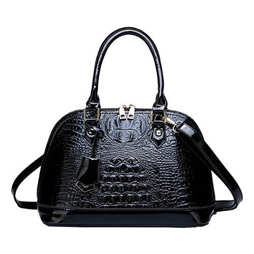 NIYUTA Damenhandtaschen Mode Schultertaschen Shopper Umhängetaschen Henkeltaschen de164 Schwarz