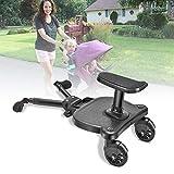 Patin para Carro Bebe Universal,Vogvigo Buggy Board Plataforma con sillín infantil y base grandeaccesorio para niños de 2 a 6 años (25 kg), compatible con casi todas las sillitas de paseo