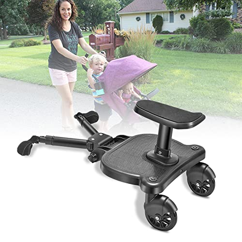Buggy Board,Vogvigo Toddlers Stroller Board,Universal Standing Board,Stable Two Wheel Design,Pram Pushchair Connector Accessories for 3-7 Years Old Children