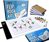 Flip Book Kit - LED Lightbox for Drawing and Tracing & 240 Sheets Animation...