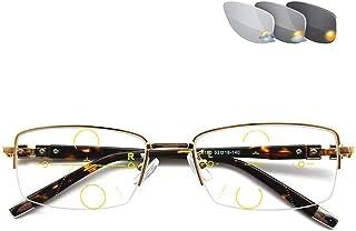 Blue Light Blocking Glasses, HD Anti-Glare Vision Photochromic Progressieve Multifocale Gaming Computer Screen Anti Vermoe...