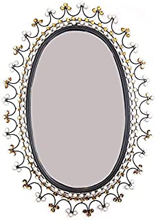 Lulu Decor, Oval Metal Beveled Wall Mirror 33