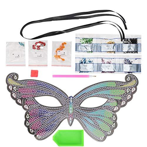 Máscara de pintura de diamantes para fiestas Máscara de pintura de diamantes con apariencia de moda Colores vivos Fácil de ajustar para fiestas para adultos