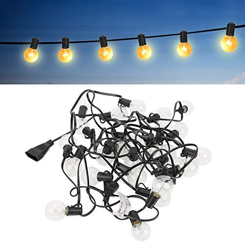 Bombillas LED inastillables, luz de tungsteno, luces de interior y exterior, 2 luces de cadena de repuesto para exteriores, 3000 K, para decoración de jardín, porche, balcón