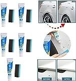 KRY Advanced Car Scratch Remover Set, Juego de Cuidado de Pasta de reparación multipropósito, Pasta de eliminación de Cicatrices de Pintura de Cera con Cepillo de Esponja, Compuesto de carrocería Rep
