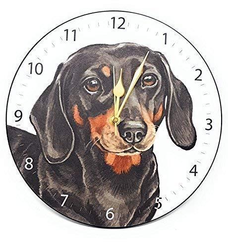 Dachshund - Reloj de pulsera para perro con diseño de rayas variadas, fabricado en el Reino Unido, regalo de calidad