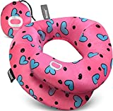 BCOZZY Chin Supporting Travel Pillow- Unique Patented Design Offers 3 Ergonomic Ways to Support The Head, Neck, and Chin When Traveling and at Home. Fully Washable. Large, Hearts