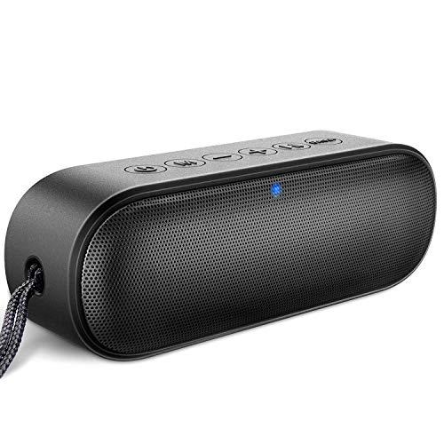 LENRUE Loud Series Bluetooth Lautsprecher, 14W IPX7 Wasserdicht Lautsprecher mit Duale Bass Treiber, Mikrofon, 24H Spielzeit, 33ft Reichweite, Kabelloser Lautsprecher für iPhone, iPad, Laptop, PC, TV