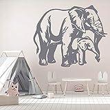 WERWN Elefante calcomanía de Pared de Becerro Safari Animal niños Dormitorio guardería decoración de Interiores Puertas y Ventanas Ventanas Vinilo Adhesivo Arte Mural