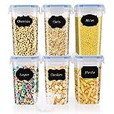 SOLEDI Recipientes de Almacenamiento de Cereales Juego de 6 Recipientes de...