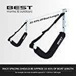 Best Marine Kayak Storage Racks. Premium Wall Mount Accessories for Kayaks and SUP Paddle Boards. Two Indoor/Outdoor… 11 HOW ARE WE DIFFERENT? - Our storage racks are made from heavy duty powder coated steel with nylon covered foam padding. They're lightweight, strong, require no assembly, are easy to install and they're affordable! WHY BEST MARINE AND OUTDOORS? - Our company goal and mission is to help people find inner peace and purpose through kayaking. When you're paddling trip is over, know that your prized possession is safe and secure waiting for your next trip on the water WHO ARE OUR STORAGE RACKS FOR? - Our wall hangers are for people looking for a simple, strong solution to protecting and storing their kayaks. Our racks can easily be installed in your garage, shed, under your deck or on your dock or pier