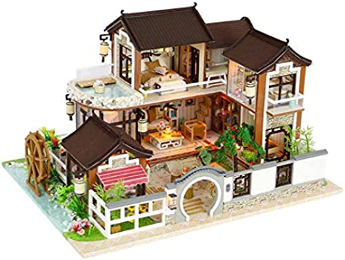 DIY Cabin Toy Wooden Creative Building Model Doll House Assembled