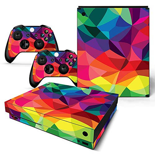 Mcbazel Pattern Series Skin Sticker for Xbox One X Console and Controller Kaleidoscope