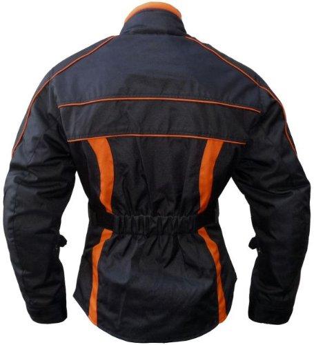 Heyberry Damen Motorrad Jacke Motorradjacke Schwarz Orange Gr.XXL - 3
