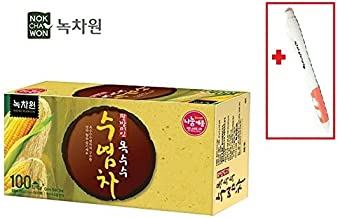 (100T) Nokchawon 100% Organic Oriental Tea selections from Korea Corn silk tea + SoltreeBundle Ballpoint Pen(Black)