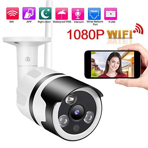 Beveiligingscamera, 1080P Wifi Draadloze IP66 IP HD-camera Buitenaanzicht Nachtmonitor Beveiligingsmonitor Beveiligingscamera voor icsee (EU)