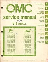 1981 OMC Service Manual for V-6 Models – Evinrude & Johnson Outboard Motors, 150 HP, 175 HP, 200 HP, 235 HP, Part No. 392076