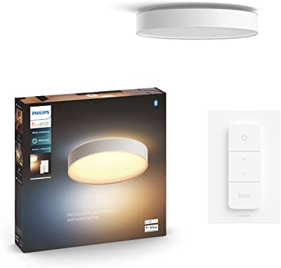 Philips Lighting 915005997701 Philips Hue White Ambiance Plafonnier Devere Large, Blanc