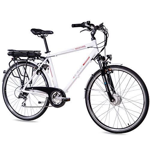 Chrisson - Bicicleta eléctrica para hombre de 28 pulgadas, bicicleta de trekking...
