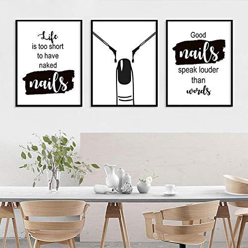 qggbgv Moderno Simple en Blanco y Negro Proverbios ingleses Pintura Decorativa Sala de Estar Sofá Fondo Cuadro Colgante Pintura en Lienzo