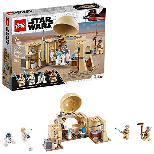 LEGO Star Wars: A New Hope OBI-Wan's Hut 75270 Hot Toy Building Kit; Super Star Wars Starter Set for Young Kids (200 Pieces)